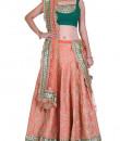 Indian Fashion Designers - Rang - Contemporary Indian Designer - Enchanting Peach Lehenga - RNG-AW16-2-052