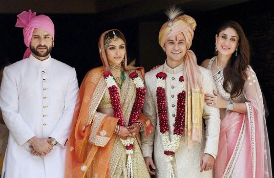Wedding Style Soha Ali Khan And Kunal Khemu Indian