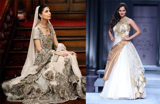 Understated elegance a white indian wedding dress for White indian wedding dress